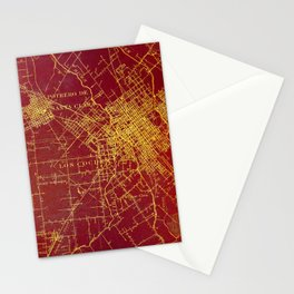 San Jose old map year 1899, united states vintage maps Stationery Cards