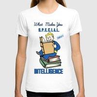 fallout 3 T-shirts featuring Intelligence S.P.E.C.I.A.L. Fallout 4 by sgrunfo