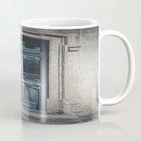 italian Mugs featuring Italian Door II by Maria Heyens