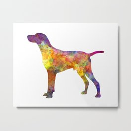 Hungarian Shorthaired Pointer in watercolor Metal Print