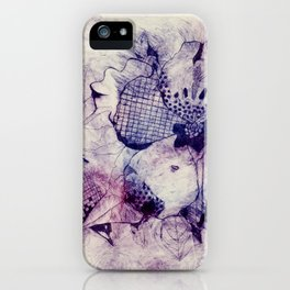 Mixed Purple Hibiscus iPhone Case