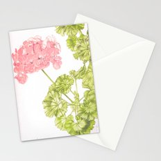 Pale Pink Geranium Stationery Cards