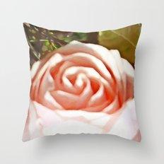 A Pale Pink Rosebud Throw Pillow