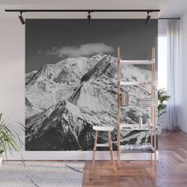 Mt. Blanc with cloud. Wall Mural