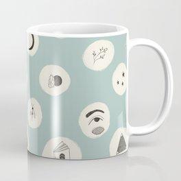 Bewitched Seafoam Green Pattern (Small) Coffee Mug