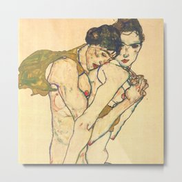 "Egon Schiele ""Friendship"" Metal Print"