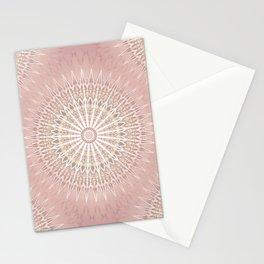 Rose Geometric Mandala Stationery Cards