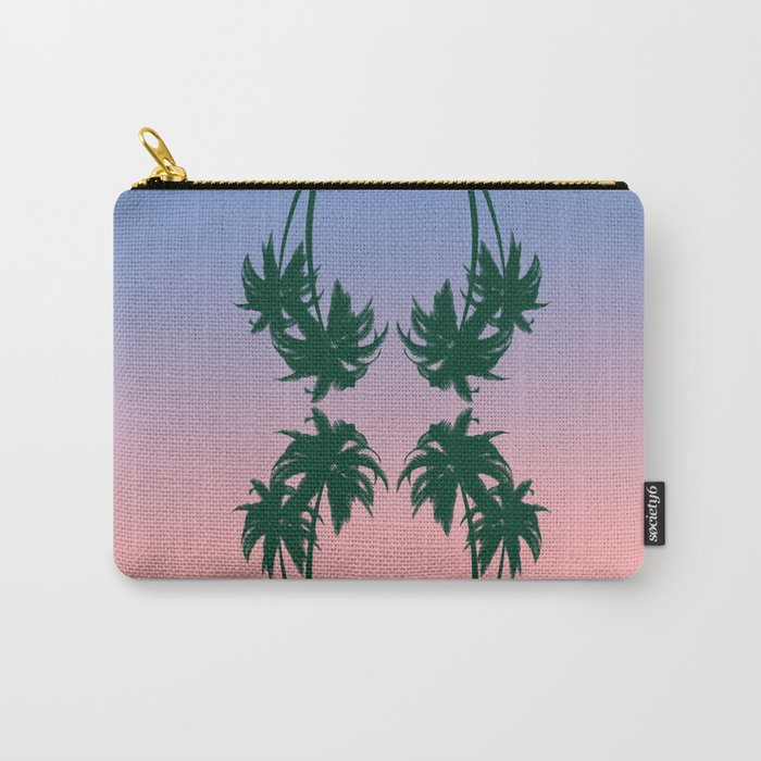 double palm tree Carry-All Pouch