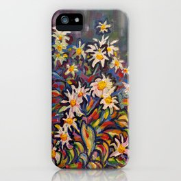 Mom's White Daisies iPhone Case