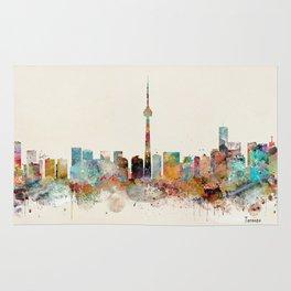 Toronto Ontario skyline Rug