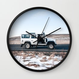 Day out shoting in Iceland Wall Clock