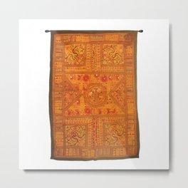 Handmade Mirror Work Raj Koti Wall Hanging Metal Print