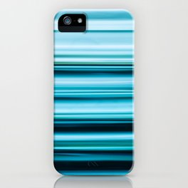 Turquoise Color Abstract Horizontal Lines #decor #society6 #buyart iPhone Case