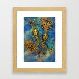 Fierce Universe Framed Art Print