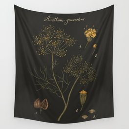 Dill (Dark Background) Wall Tapestry