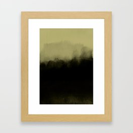 golden lime & graphite Framed Art Print