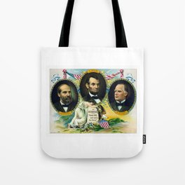 Garfield, Lincoln, and McKinley -- In Memoriam Tote Bag