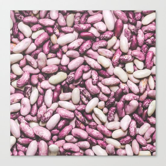Shiny white and purple cool beans Canvas Print