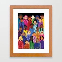 Women Unite Framed Art Print