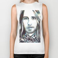 jared leto Biker Tanks featuring Jared Leto by ShayMacMorran