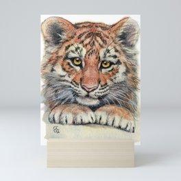 Cute Tiger Cub 903 Mini Art Print