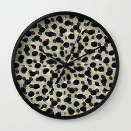 Metallic Camouflage Wall Clock
