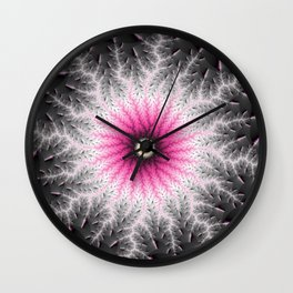 Fractal Bloom Wall Clock