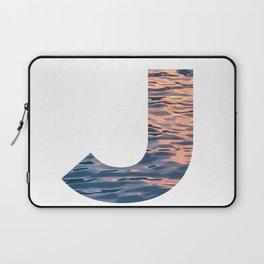 """J"" Initial Water Laptop Sleeve"
