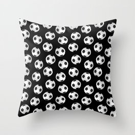 Soccer Ball Pattern-Black Throw Pillow