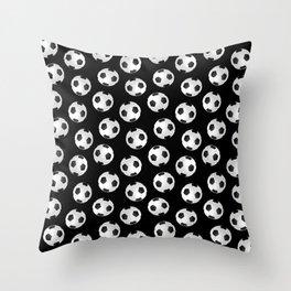 Soccer Ball Pattern-Black Throw Pillow