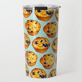 Blueberry Muffin Pattern Travel Mug