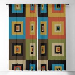 Retro Square Blackout Curtain