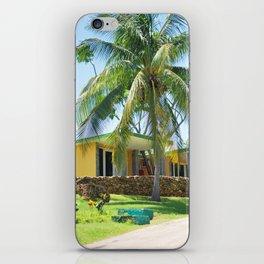 71. Hotel under palmtree, Cuba iPhone Skin