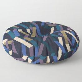 Straight Geometry Ribbons 2 Floor Pillow