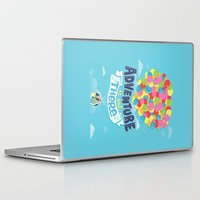 adventure is out there Laptop & iPad Skins featuring Adventure is out there by Risa Rodil