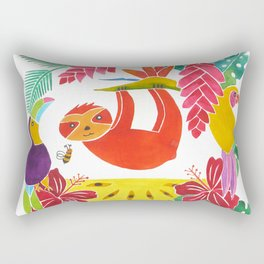 Sloth with anona Rectangular Pillow