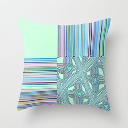 Re-Created Southern Cross I by Robert S. Lee Throw Pillow