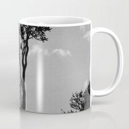 Exotic Tropical Trees Silhouette, Socotra Island Coffee Mug