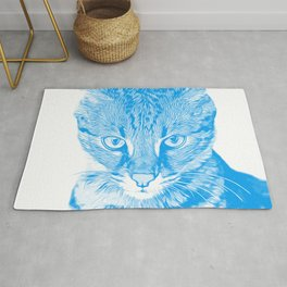 savannah cat portrait vawb Rug