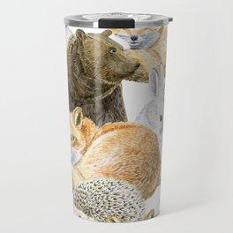 woodland animals pattern Travel Mug