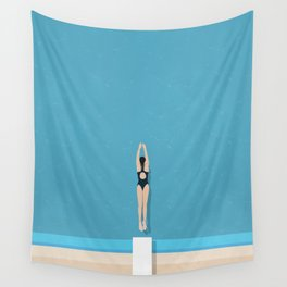 Diving In  Wall Tapestry