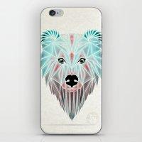 polar bear iPhone & iPod Skins featuring polar bear by Manoou