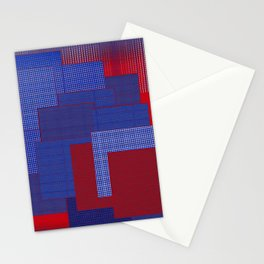 Blue Color Geometry Stationery Cards