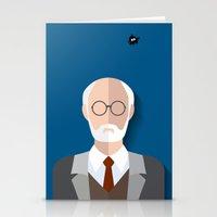 freud Stationery Cards featuring Freud by Diretório do Design