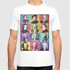 Composers Compilation Mens Fitted Tee White MEDIUM