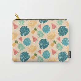 Pineapple Melon tropical Fruit Pattern Carry-All Pouch
