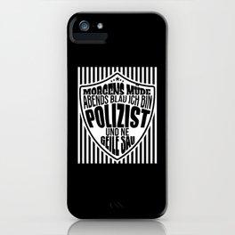 police gift policemen beer drink saying iPhone Case