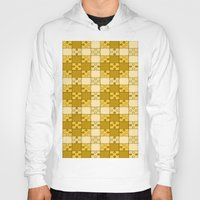 yellow pattern Hoodies featuring Puzzle Pattern,yellow by MehrFarbeimLeben