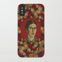 frida iPhone & iPod Cases featuring FRIDA by badOdds