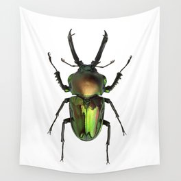 Rainbow Stag Beetle Wall Tapestry